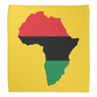 Drapeau rouge, noir et vert de l'Afrique Bandana