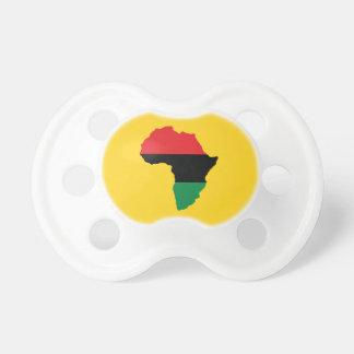 Drapeau rouge, noir et vert de l'Afrique Tétine