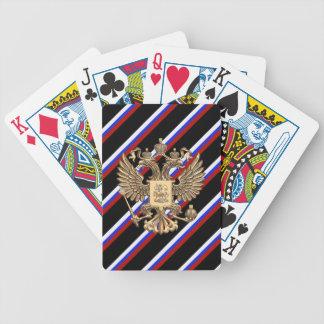 Drapeau russe de rayures jeu de cartes