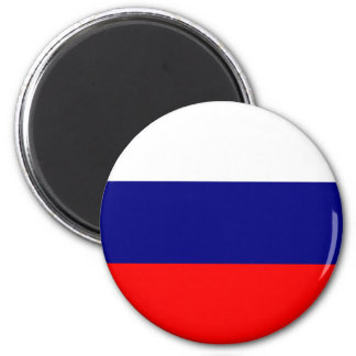 Drapeau russe magnet rond 8 cm