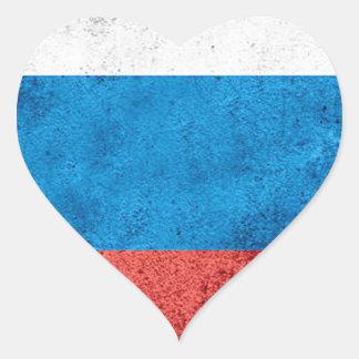 Drapeau russe sticker cœur