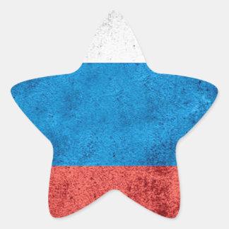 Drapeau russe sticker étoile