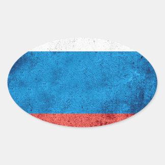 Drapeau russe sticker ovale