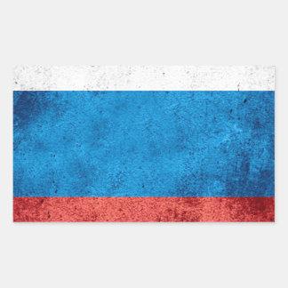 Drapeau russe sticker rectangulaire