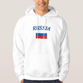 Drapeau russe veste à capuche