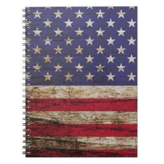 Drapeau rustique des Etats-Unis d'Américain Carnet