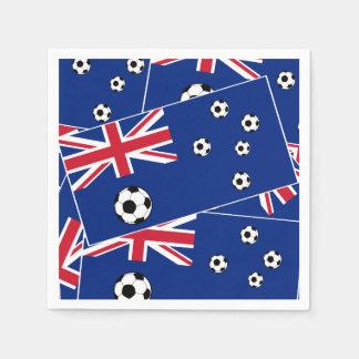 Drapeau s6 pillow.png du football de l'Australie Serviette Jetable