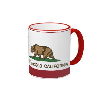 Drapeau San Francisco d'état de la Californie Mug Ringer
