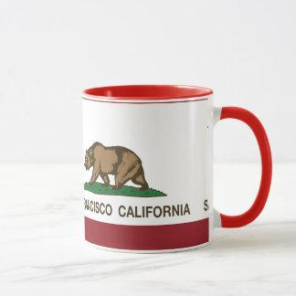 Drapeau San Francisco d'état de la Californie Tasses