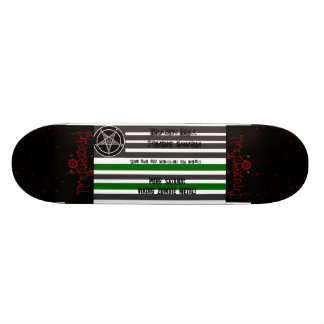 drapeau satanique, brazenbull, brazenbull, sang, s skateboards cutomisables