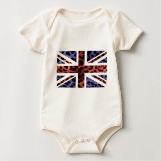Drapeau sauvage de Jack les Anglais (R-U) de motif Bodies Pour Bébé