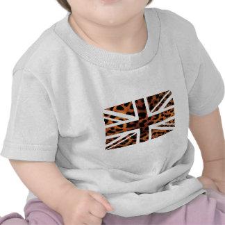 Drapeau sauvage de Jack les Anglais (R-U) de motif T-shirts