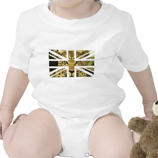 Drapeau sauvage de Jack les Anglais (R-U) de visag T-shirts