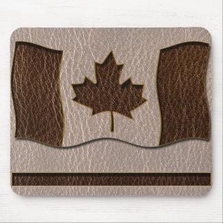Drapeau simili cuir du Canada mou Tapis De Souris