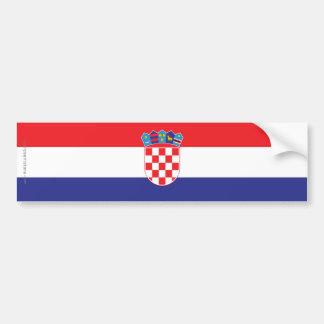 Drapeau simple de la Croatie Autocollant De Voiture