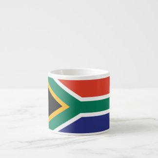 Drapeau simple de l'Afrique du Sud Tasse Expresso