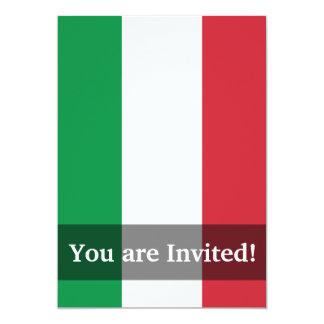Drapeau simple de l'Italie Carton D'invitation 12,7 Cm X 17,78 Cm