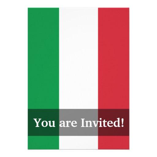 Drapeau simple de l'Italie Invitation