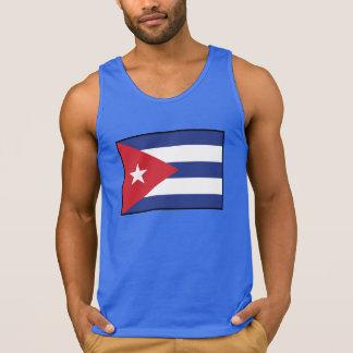 Drapeau simple du Cuba T-shirts Sans Manches