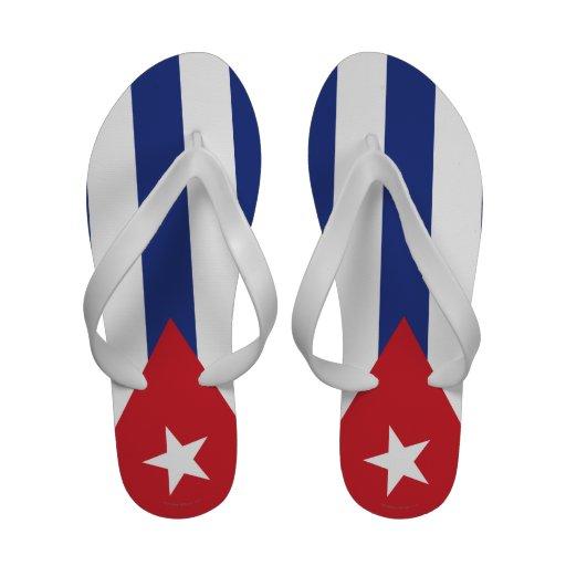 Drapeau simple du Cuba Tongs