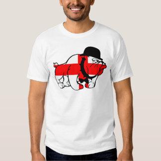 Drapeau snob de l'anglais de chien de Taureau de T-shirts