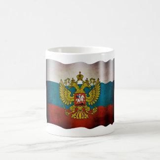 Drapeau soufflant de Russie Mug