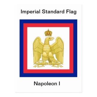 Drapeau standard impérial de carte postale du