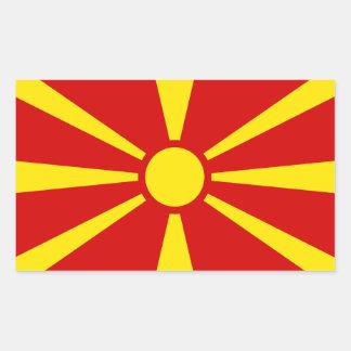Drapeau Sticker* de Macédoine Sticker Rectangulaire