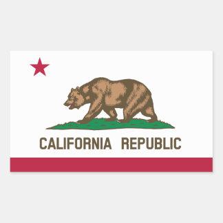 Drapeau Sticker Drapeau   de Californie de Sticker Rectangulaire