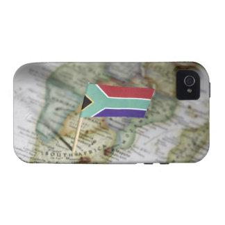 Drapeau sud-africain dans la carte coque vibe iPhone 4