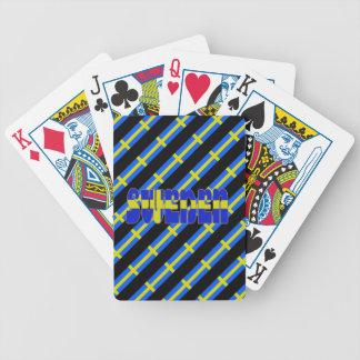 Drapeau suédois de rayures jeu de cartes