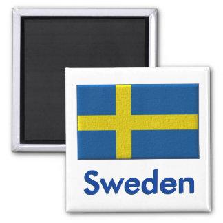 Drapeau suédois magnet carré