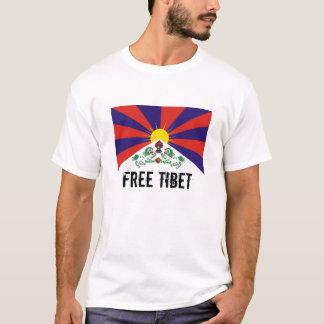 Drapeau tibétain, T-shirt LIBRE du THIBET