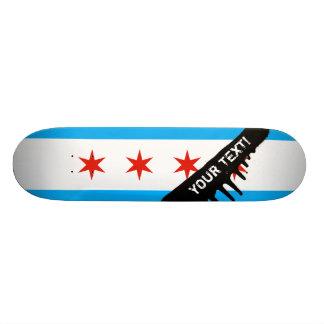 Drapeau traditionnel de Chicago Skateoard Personnalisé