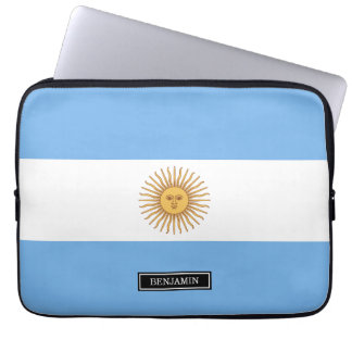 Drapeau traditionnel de l'Argentine Housse Ordinateur