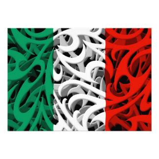 Drapeau tribal de graffiti de l'Italie Invitation
