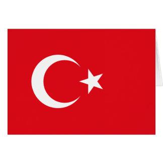 Drapeau turc carte de vœux