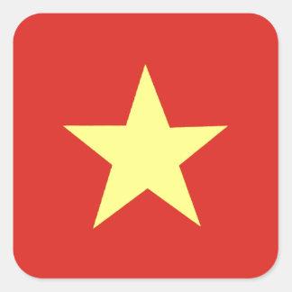Drapeau vietnamien sticker carré