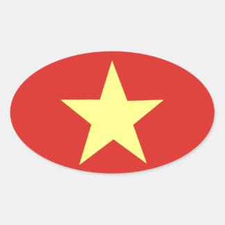 Drapeau vietnamien sticker ovale