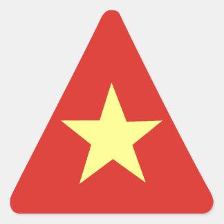 Drapeau vietnamien sticker triangulaire