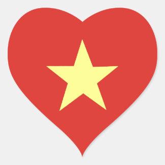 Drapeau vietnamien sticker cœur
