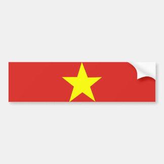 Drapeau vietnamien autocollant de voiture