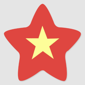 Drapeau vietnamien sticker étoile