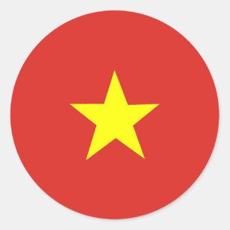 Drapeau vietnamien sticker rond