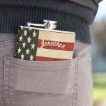 Drapeau vintage américain personnalisé de flacon