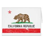 Drapeau vintage de la Californie Cartes
