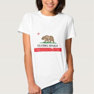 Drapeau vintage de la Californie T-shirt
