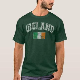 Drapeau vintage de l'Irlande T-shirt