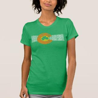 Drapeau vintage de shamrock du Colorado de Celtic T-shirt