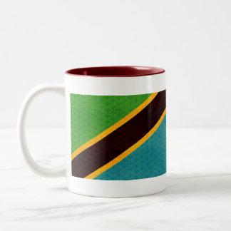 Drapeau vintage de Tanzanien de motif Mug Bicolore